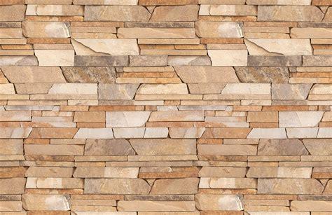 Yellow Livingroom sandstone brick wallpaper wall mural muralswallpaper co uk