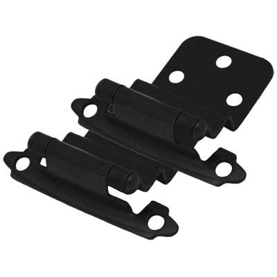 flat hinges for cabinets cosmas 17128 fb flat black hinge 3 8 inset pair