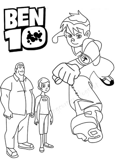 Big Ben Coloring Pages Ben 10 Printable Rath Coloring Pages