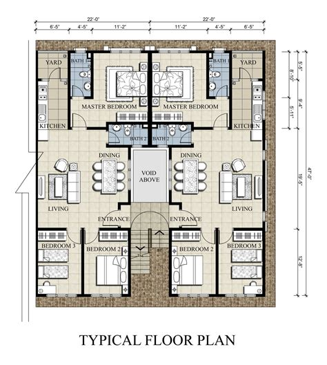 townhouse building plans tenagapasti