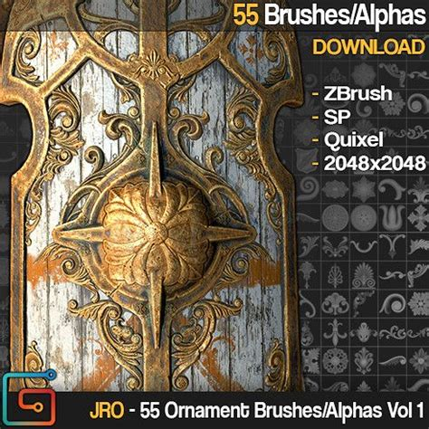 zbrush ornament tutorial 177 best images about zbrush alphas on pinterest brush
