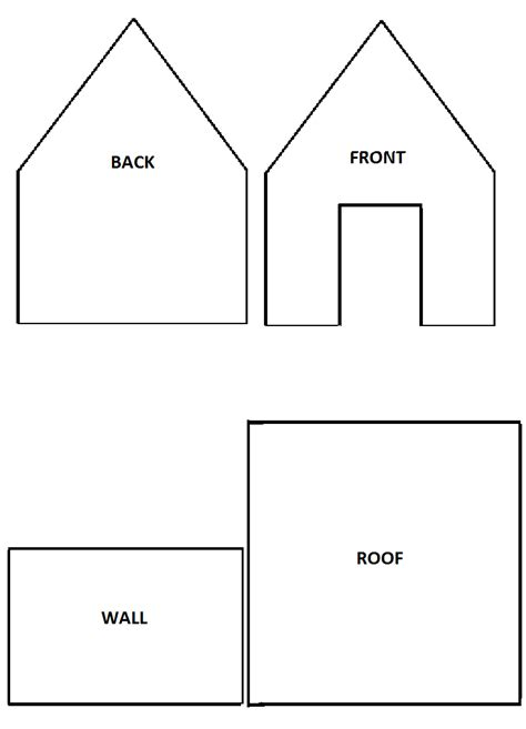 simple gingerbread house template printable 6 best images of free printable gingerbread house template
