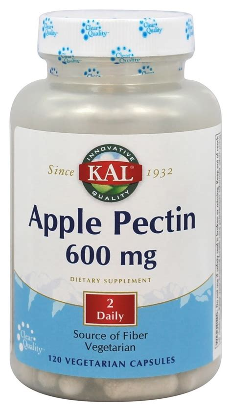 How To Detox With Apple Pectin by Buy Kal Apple Pectin 600 Mg 120 Vegetarian Capsules