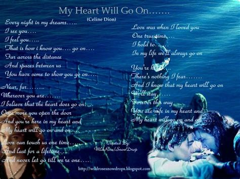 Film Titanic Song Lyrics | my heart will go on quotes titanic song lyrics ℱlowers