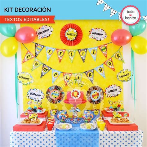 decorar globos superheroes decoracion de cumplea 241 os de superh 233 roes
