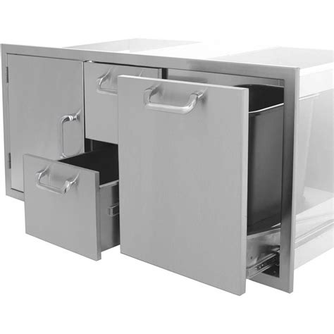 Rollout Drawers by Acadia Series 42 Single Door 2 Drawers Trash Rollout