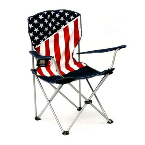 patriotic american flag folding chair w cup holder new ebay