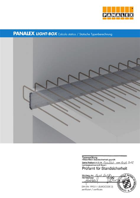 querkraftbewehrung decke light box typenpr 252 fung 2012 ansicht by panalex panalex issuu