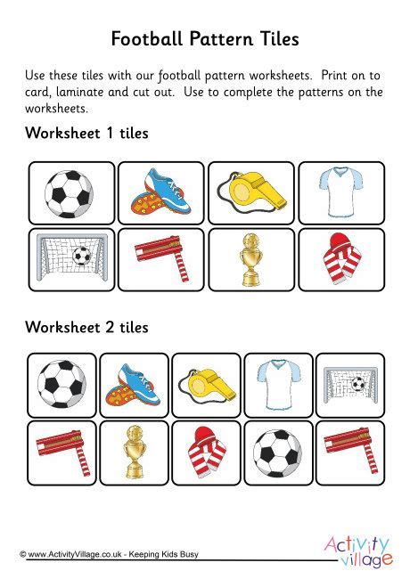 repeating pattern questions football maths worksheets football maths the longest