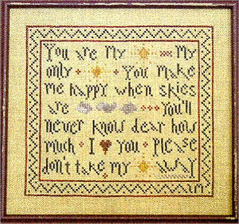 cross stitch pattern you are my sunshine my sunshine is cross stitch chart of the week