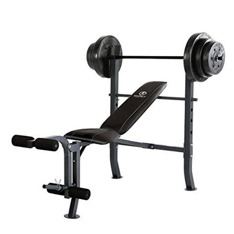 marcy standard bench with 100 pound weight set what are the essential weight training equipment for home