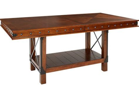 red hook pecan counter height picture of red hook pecan rectangle dining table from