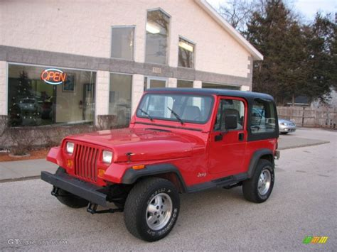 1994 poppy jeep wrangler s 4x4 75612521 gtcarlot car color galleries