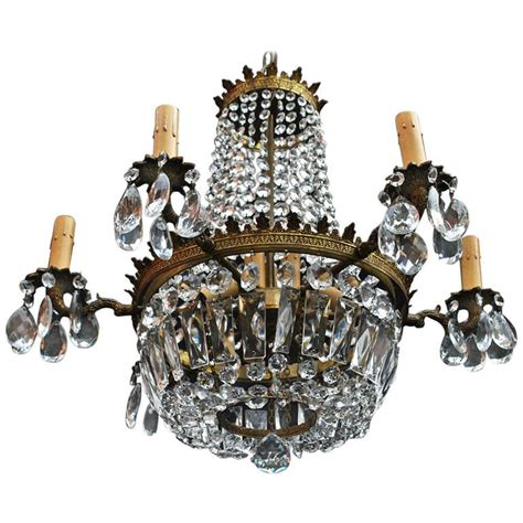 1940s Chandelier Beautiful Small 1940s Chandelier At 1stdibs