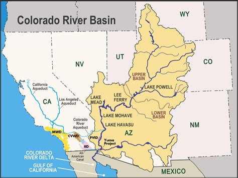 us map showing colorado river the colorado river central basin municipal