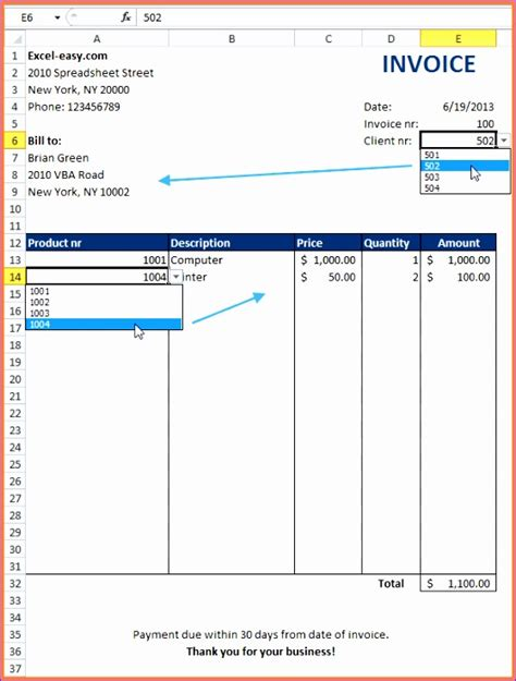 6 How To Create A Invoice Template In Excel Exceltemplates Exceltemplates How To Make Invoice Template In Excel