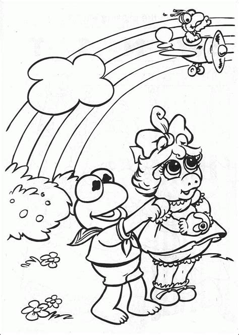 baby kermit coloring pages coloring page muppets baby coloring pages 36