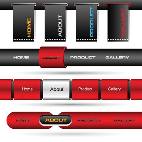 html design navigation bar button on the navigation bar web design vector free vector
