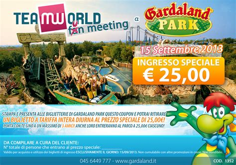 quanto costa l ingresso a gardaland team world ti aspetta a gardaland raduno nazionale fandom