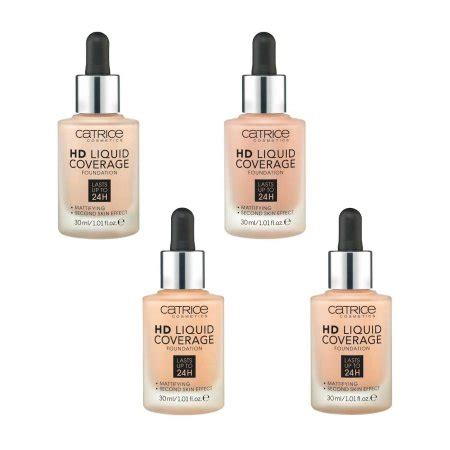 Catrice Cosmetic Hd Liquid Coverage Foundation catrice hd liquid coverage foundation podk蛯ad w p蛯ynie 30ml hairstore pl