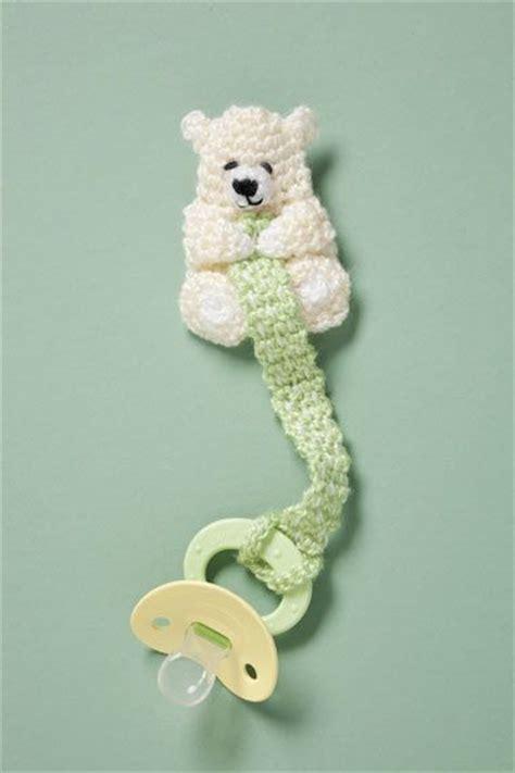 Free Crochet Pattern Pacifier Holder | bear pacifier holder free crochet pattern binky