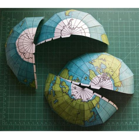 How To Make Paper Globe - how to make a globe using print and assemble