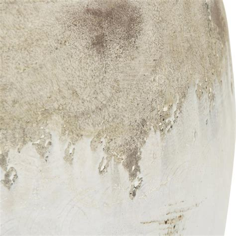 Distressed Floor Vase - siena large white rustic distressed white ceramic wide top