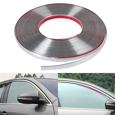 List Molding Chrome 20 Mm Mobil All New Avanza 13m car styling door moulding trim automotive car sticker chrome width 6mm 8mm 10mm