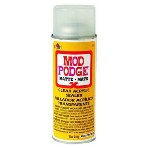 Decoupage Waterproof Sealer - mod podge 12 oz matte acrylic sealer 1469 the home depot