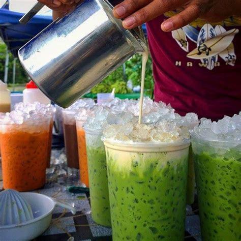 Teh Hijau Thailand cara buat thai green tea latte paling senang 6 minit dah