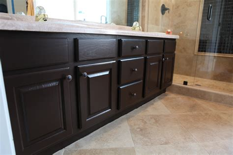 Bathroom Cabinets Painted With Rustoleum Cabinet