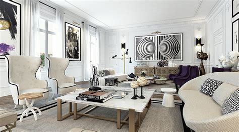 luxury apartment a parisian style contemporary glamorous apartment in dazzles with extravagance