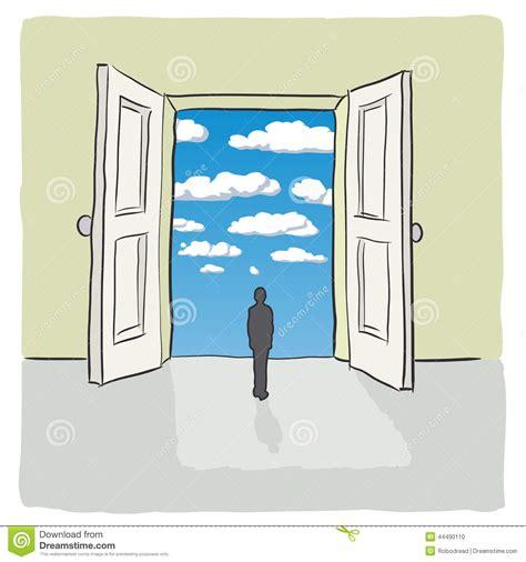 open door stock vector image 44490110