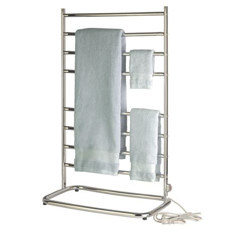 Floor Warmer by Warmrails Freestanding Towel Bar Warmer Drying Rack