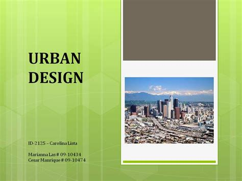 Urban Design Powerpoint | mariannalas licensed for non commercial use only ppt
