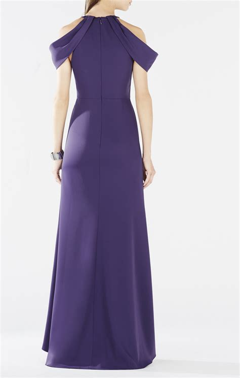 drape gowns kathya draped cutout gown