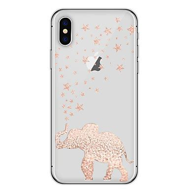Casing Iphone 7 Back Soft Side Hippo With Bird for iphone x iphone 8 cover ultra thin transparent back cover elephant soft tpu for