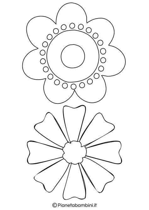 sagome da ritagliare fiori 81 sagome di fiori da colorare e ritagliare per bambini