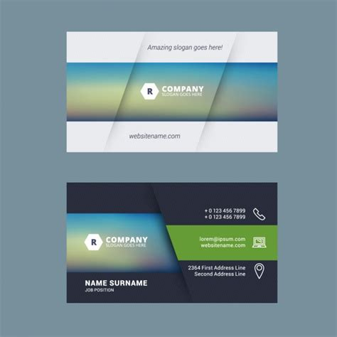 company business card template vector free download