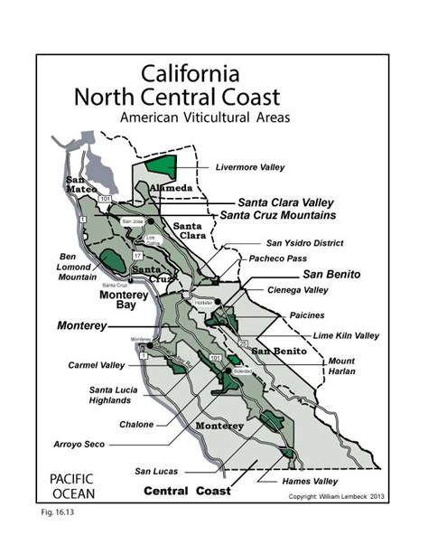 california map central coast gulfs of the pacific