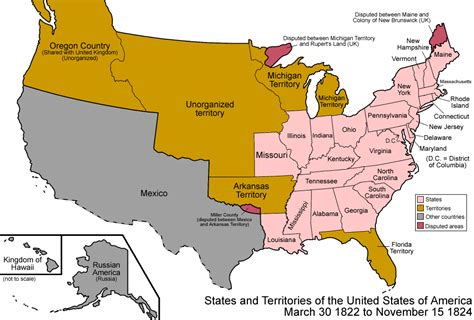 map of us states that belonged to mexico united states in 1822 1824 notes from aztl 225 n