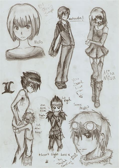 Note 5 Sketches by Note Sketches By Bailey1rox On Deviantart