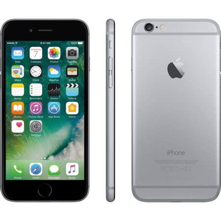 at t prepaid iphone 6 32gb space gray with 45 of service walmart