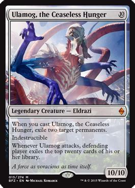 Ulamog, the Ceaseless Hunger from Battle for Zendikar Spoiler Ulamog Mtg