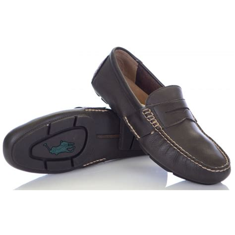 ralph telly loafer ralph shoes telly perforated leather brown