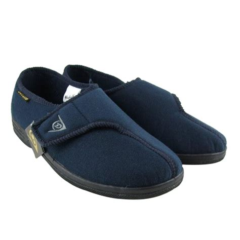 gents slippers uk mens dunlop ankle boot velcro slipper wide fitting gents