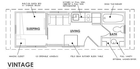 escape floor plan escape vintage is a classic affordable thow tiny house