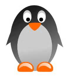 Free simple round penguin clip art