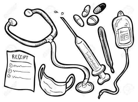 nurse tools coloring page medical equipment clipart 101 clip art