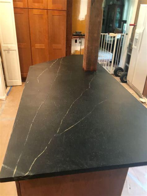 Unique Countertops unique kitchen island installation the soapstone